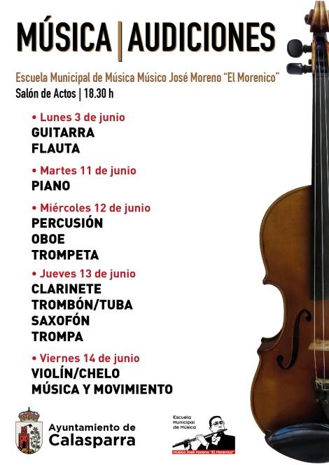 Escuela Municipal de Música Músico José el Morenico · Audiciones