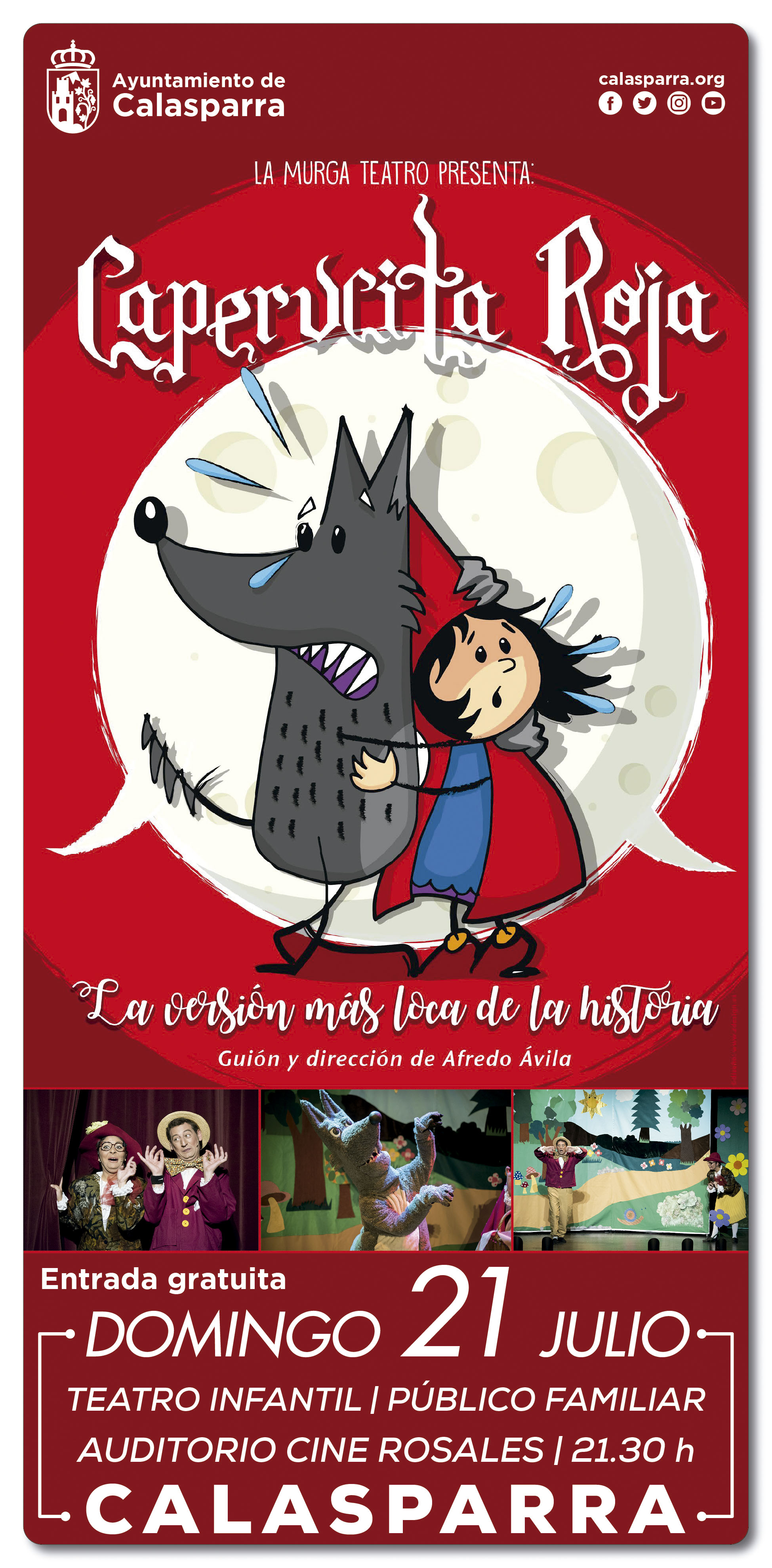 "La Caperucita Roja · Compañía ""La Murga Teatro Roja"""